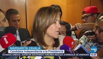 Margarita Zavala Evaluar Seguridad Candidatos