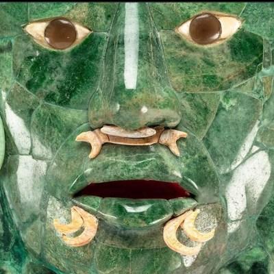 Máscara de jade de Calakmul regresa a Campeche