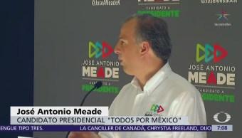 Meade rechaza que vaya a declinar en su aspiración a la Presidencia
