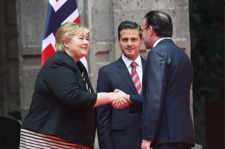 Erna Solberg, Primera Ministra de Noruega, visita México