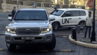 Equipo de ONU fue objeto de disparos en Duma, Siria