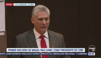 Miguel Díaz-Canel ofrece primer mensaje como presidente de Cuba