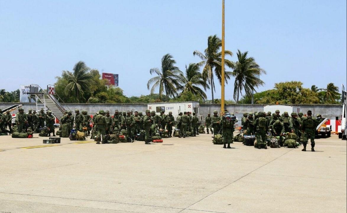 Llegan militares a Guerrero para reforzar la seguridad