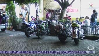 Motociclistas agreden a policías en Coyoacán, CDMX
