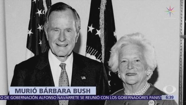 Muere Barbara Bush a los 82 años de edad