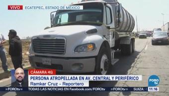 Muere ciclista arrollado por pipa en Ecatepec Estado de México