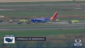 Muere Pasajero Avión Aterriza Emergencia Philadelphia