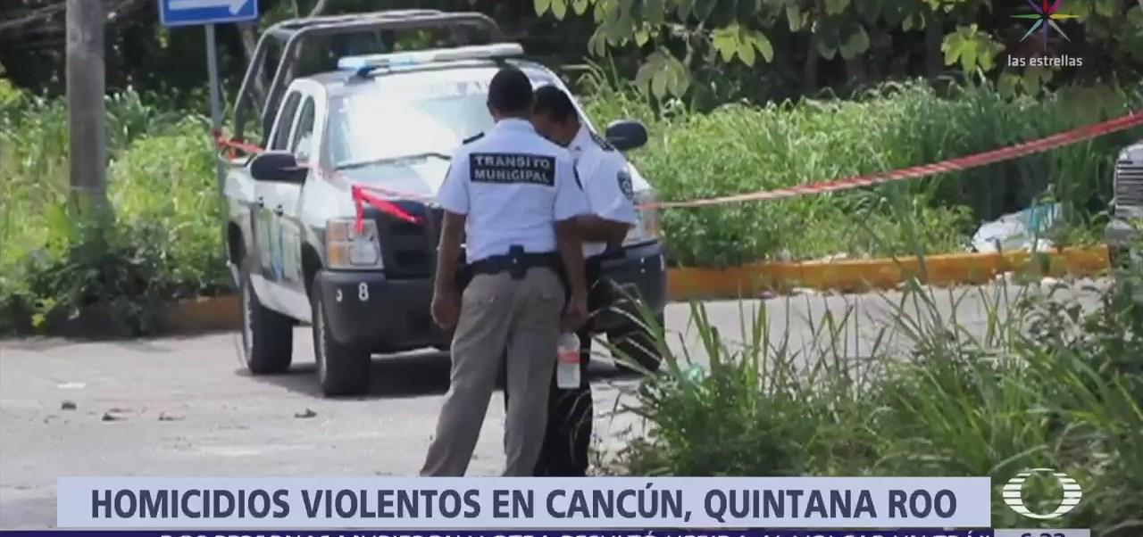 Mueren 11 personas en 4 ataques perpetrados en últimas horas, en Cancún