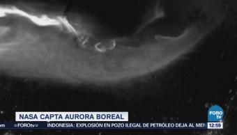 Nasa comparte imagen de aurora boreal captada por un satélite