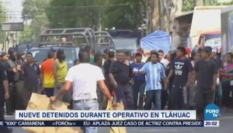 Nueve Detenidos Durante Operativo Tláhuac CDMX