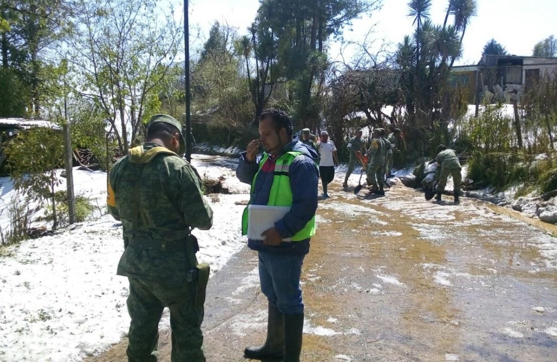Declaran emergencia para 2 municipios de Oaxaca tras severa granizada