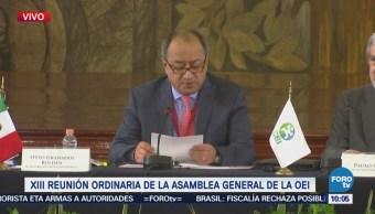 Otto Granados participa en la asamblea general de la OEI