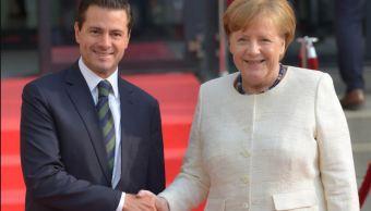 Peña Nieto y Angela Merkel inauguran Feria de Hannover en Alemania