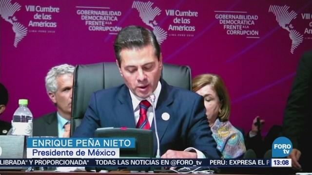 Peña Nieto condena uso de armas químicas