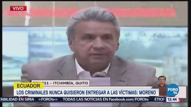 Periodistas secuestrados fueron asesinados, confirma presidente de Ecuador