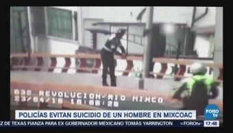 Policías Evitan Suicidio Hombre Mixcoac