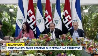 Presidente Nicaragua Cancela Reforma Seguridad Social