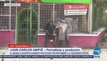 Presidente Ortega Pronunciado Protestas Violentas Nicaragua