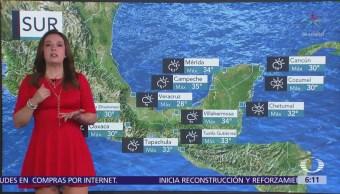 Prevén lluvias y altas temperaturas en la mayor parte del país