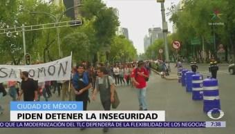 Protestan en la CDMX por el asesinato de tres estudiantes de cine