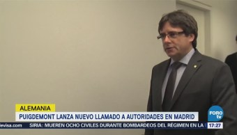 Puigdemont lanza nuevo llamado a autoridades en Madrid
