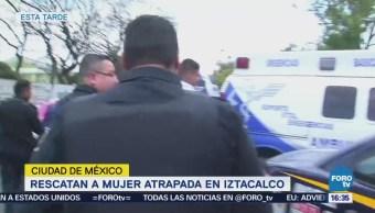 Rescatan Mujer Atrapada Iztacalco Tras Explosión