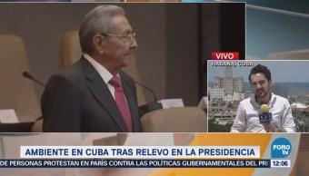 Reacciones en Cuba tras relevo en la Presidencia de Raúl Castro