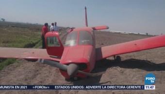 Realizan aterrizaje de emergencia sobre la carretera Naucalpan Toluca, Edomex