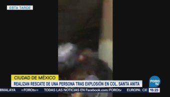 Realizan Rescate Persona Explosión Iztacalaco