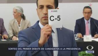 Realizan sorteo del primer debate de candidatos a la presidencia