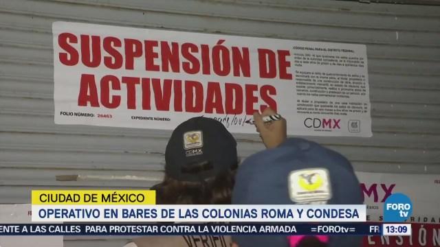 Realizan verificación de bares en las colonias Roma y Condesa CDMX
