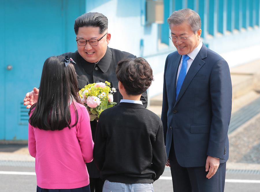 En imágenes: El histórico encuentro entre las dos Coreas