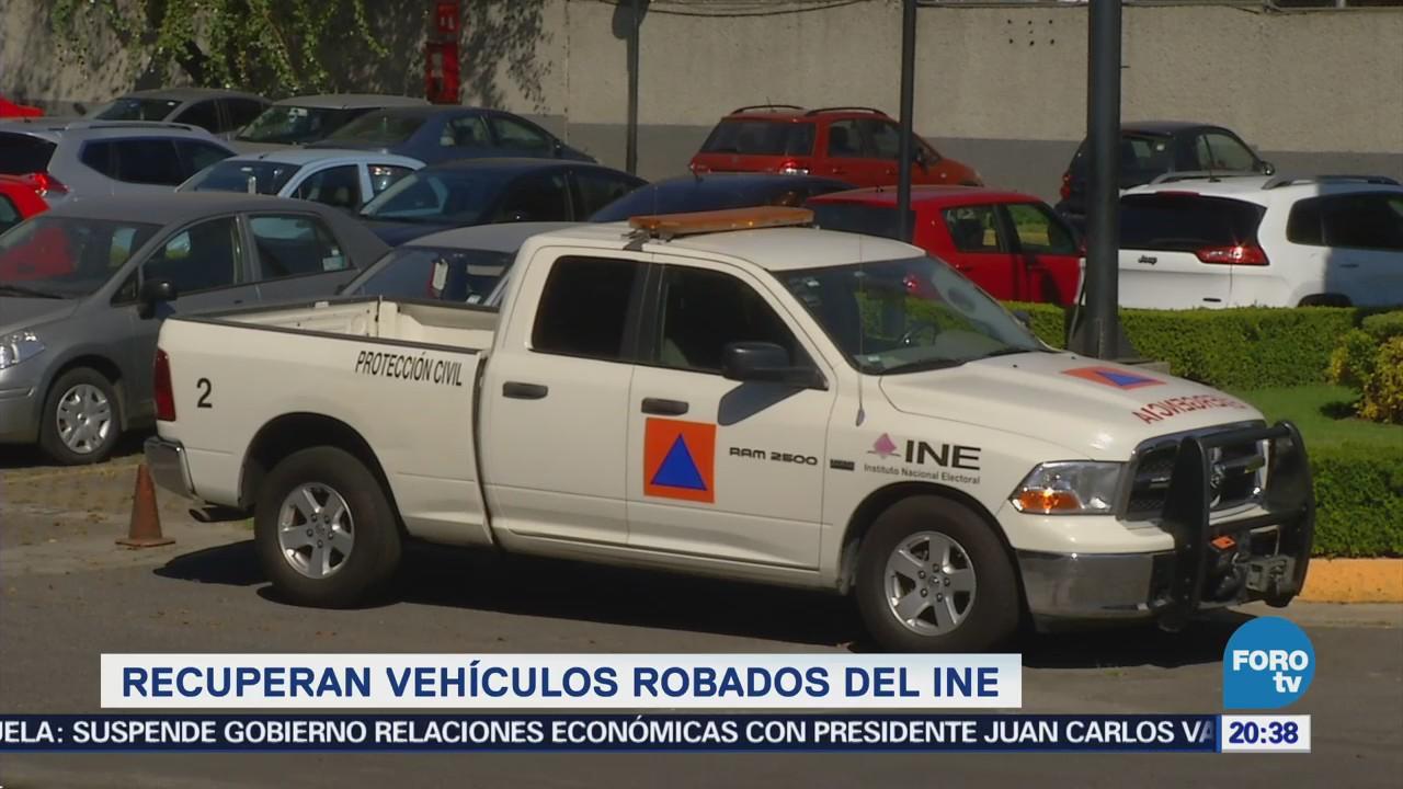 Recuperan vehículos robados Instituro Nacional Electoral