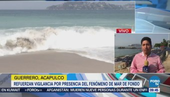 Refuerzan Vigilancia Mar de fondo Acapulco, Guerrero