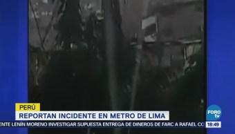 Reportan Explosión Metro Lima Perú Cirimen