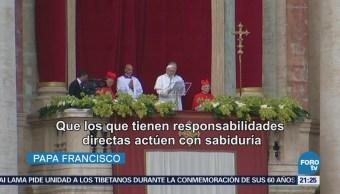Reza Papa Francisco Paz Misa Pascua