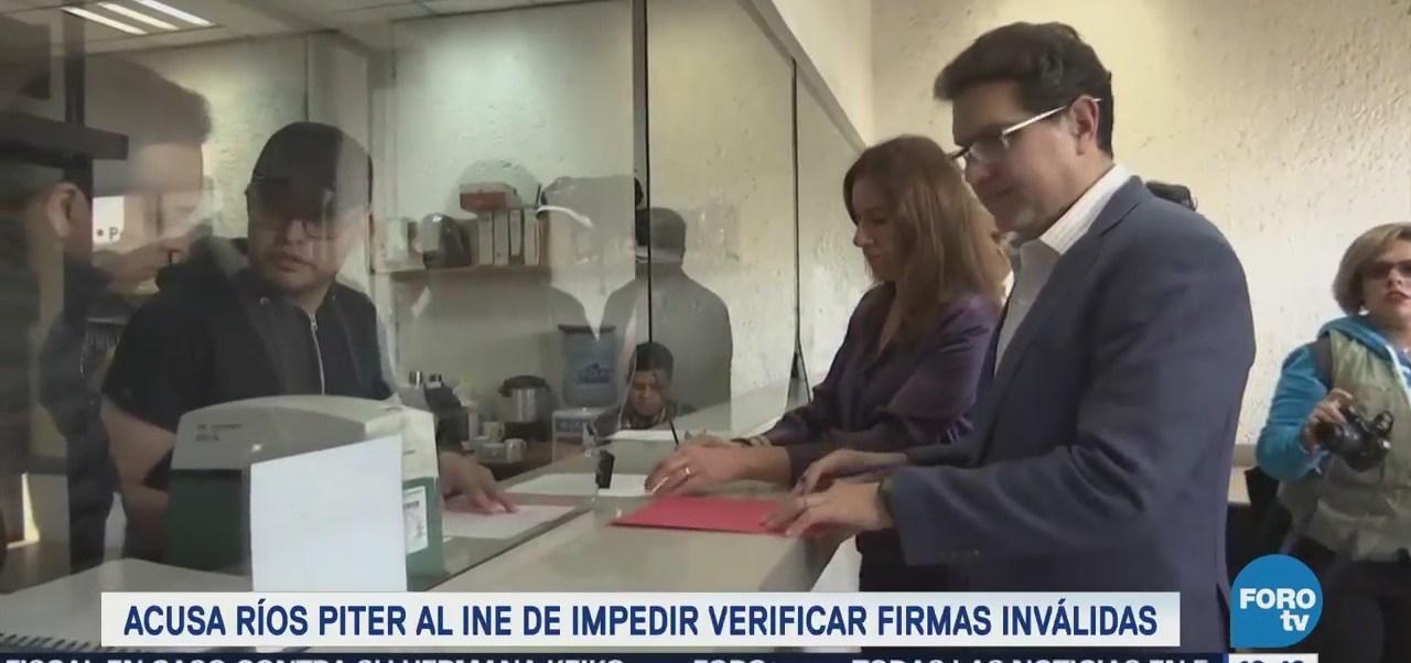 Ríos Piter Acusa Ine Impedir Derecho Audiencia