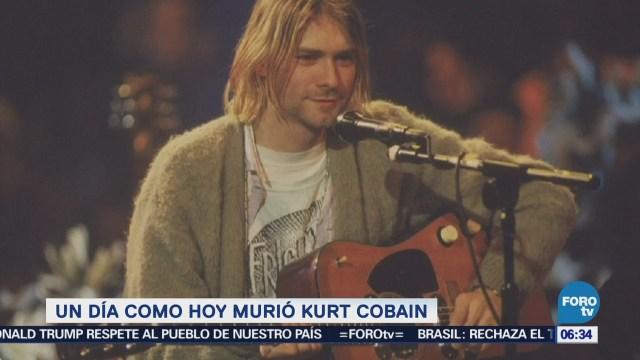 Se cumplen 24 años de la muerte de Kurt Cobain, líder de la banda 'Nirvana'