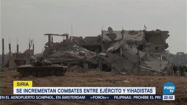 Incrementan Combates Entre Ejército Sirio Yihadistas
