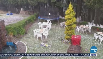 Registra Caída Granizo Zona La Marquesa