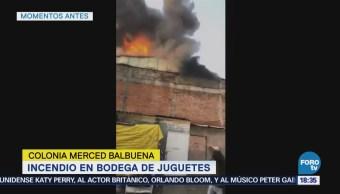 Incendio Bodega Juguetes Merced Balbuena Cdmx