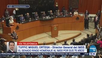 Senado conmemora 75 aniversario del IMSS en sesión solemne
