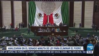 Senadores Analizan Cambios Minuta Ley Eliminación Fuero