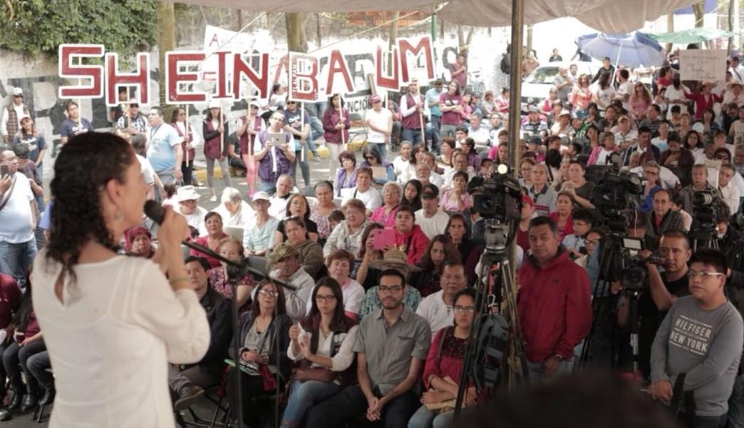 Sheinbaum realiza mítines en Tlalpan; responde a críticas de Barrales
