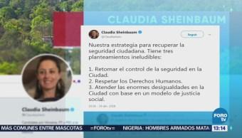 Sheinbaum Da Conocer Estrategia Seguridad Cdmx
