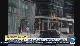 Sube a 10 la cifra de muertos por atropellamiento en Toronto