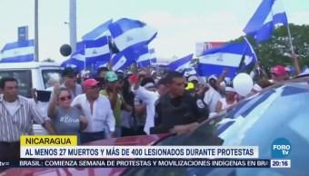 Suman 27 muertos por protestas violentas en Nicaragua