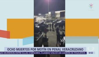 Suman 8 muertos por motín en penal de Amatlán