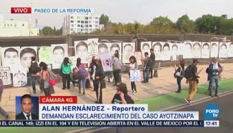 Toman Paseo de la Reforma; demandan esclarecimiento del caso Ayotzinapa