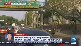 Transporte público complica tránsito en Constituyentes, CDMX